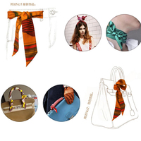 20 PCS/ Lot New Rayon Silk Small Women Fashion Scarf Hair Bags Handle Decoration Tie Multifunction Hand Ribbon Ribbons