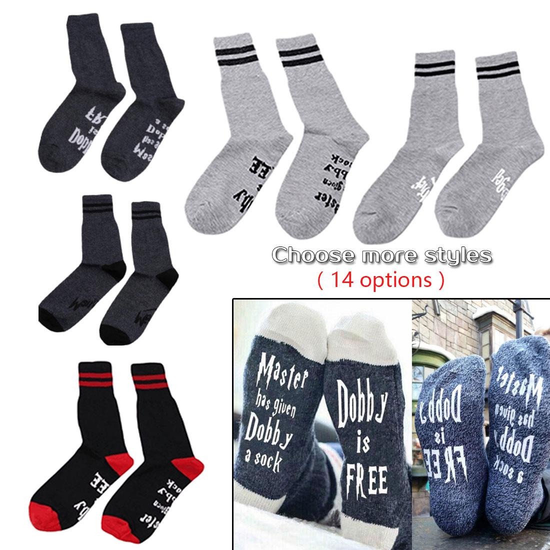 2019 New Arrival Chaussette Femme Winter Warmly Meias Happy Socks Women Wine Socks Print Letter Cute Autumn Spring Funny Socks in Socks from Underwear Sleepwears