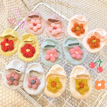 New Children's Socks Breathable Cotton Belt Flowers Comfortable Cute Baby Socks Suitable For 1-2 Years Old Children цена и фото