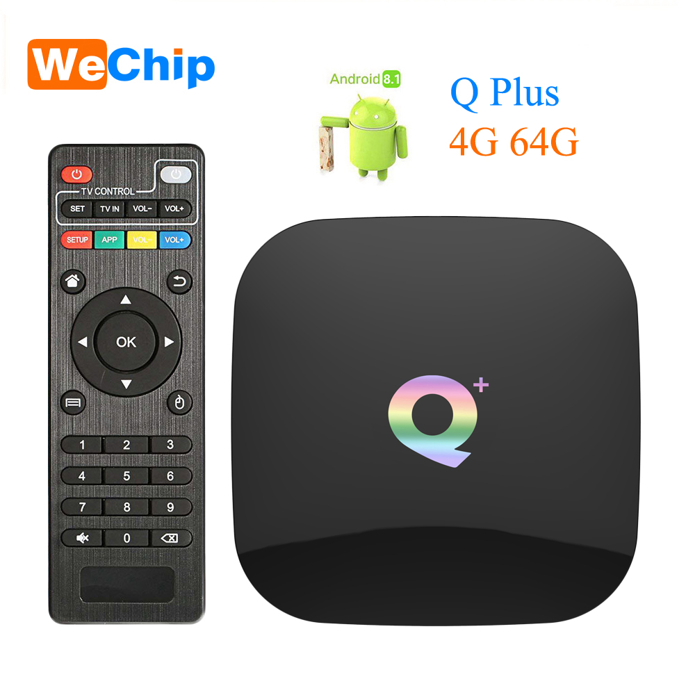 Wechip Smart Android 8.1 TV Box Q plus 4GB 64GB Allwinner H6 4GB 32GB 1080P H.265 4K Media Player 2.4G Wifi Wireless Set Top BoxWechip Smart Android 8.1 TV Box Q plus 4GB 64GB Allwinner H6 4GB 32GB 1080P H.265 4K Media Player 2.4G Wifi Wireless Set Top Box
