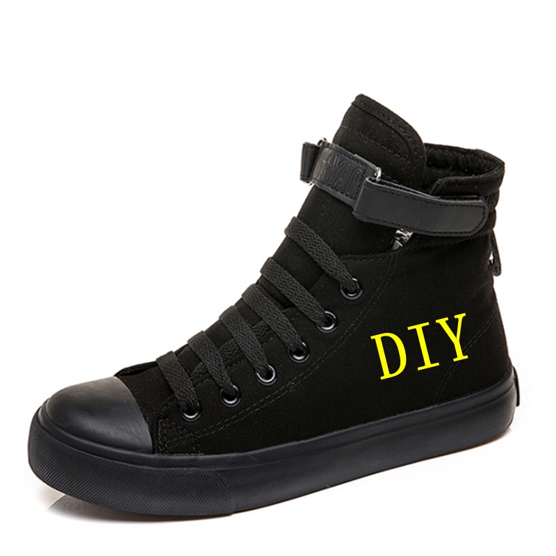 DIY Sneakers Customized Image Logo Hi Top Canvas Shoes Sneakers For Women Men Teenagers Casual  Vulcanize Shoes Leisure Shoes