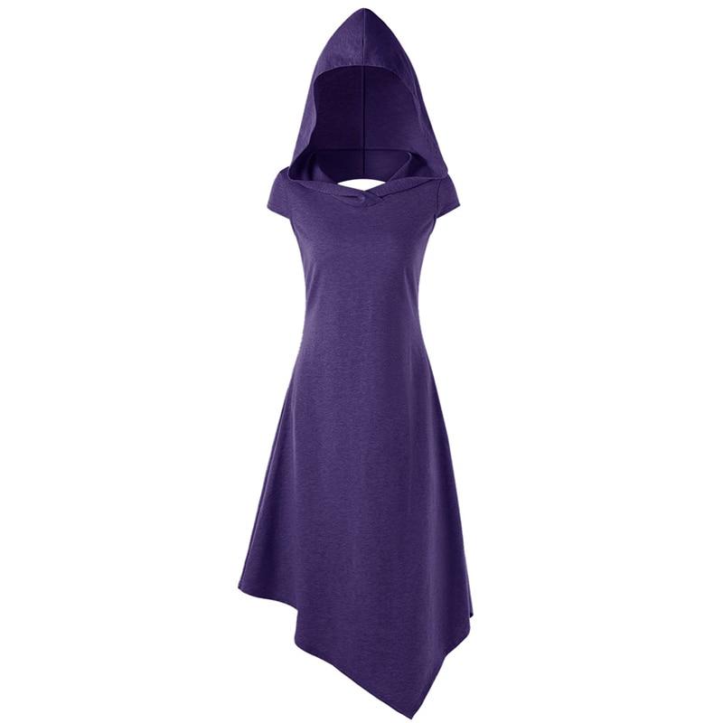 A line Women Sleeveless Dress V neck Elegant for Casual Street Wear Mid Calf Hooded Summer Dress in Dresses from Women 39 s Clothing