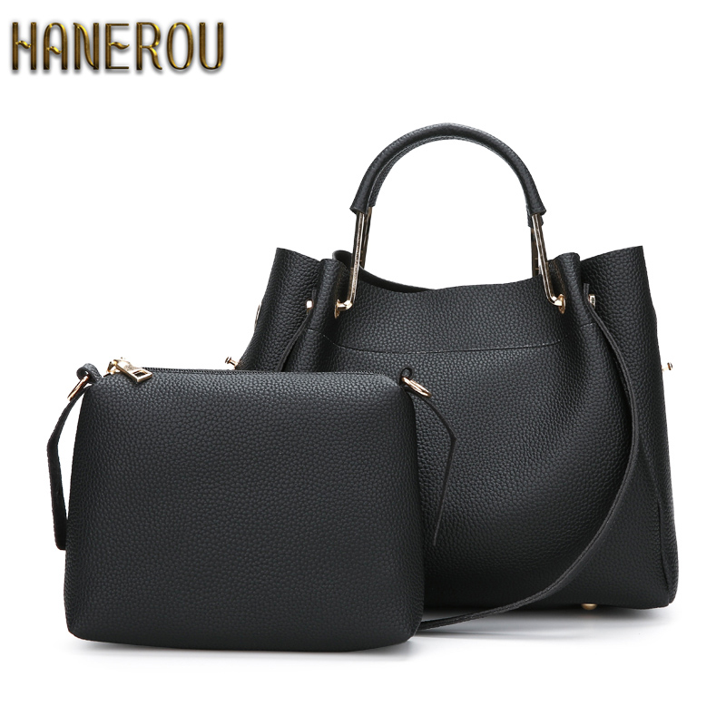 цены на New 2018 Autumn Fashion Women PU Leather Shoulder Bag Ladies Large Casual Tote Bag Brand Woman Handbag Bolsa Feminina Preta в интернет-магазинах