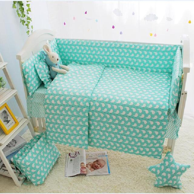 10pcs Baby Bedding Set for Boy,Infant Toddler Crib Bed Liner,Baby Bed Sheet Cover Crib Organizer,Baby Quilt Cot Bumper Comforter