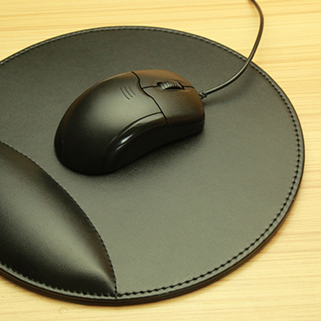 NOYOKERE Good Sale 3D Leather Computer Mouse Pad With Wrist Rest Ergonomic Office Soft Sponge Wrist Support Mat Mousepad For PC