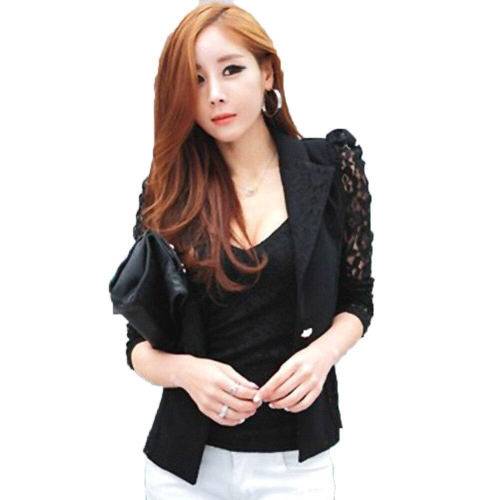Elegant Ladies Work Wear Lace tops Women Jacket Long Sleeves Business Suit Plus Size 3XL Casual Innrech Market.com