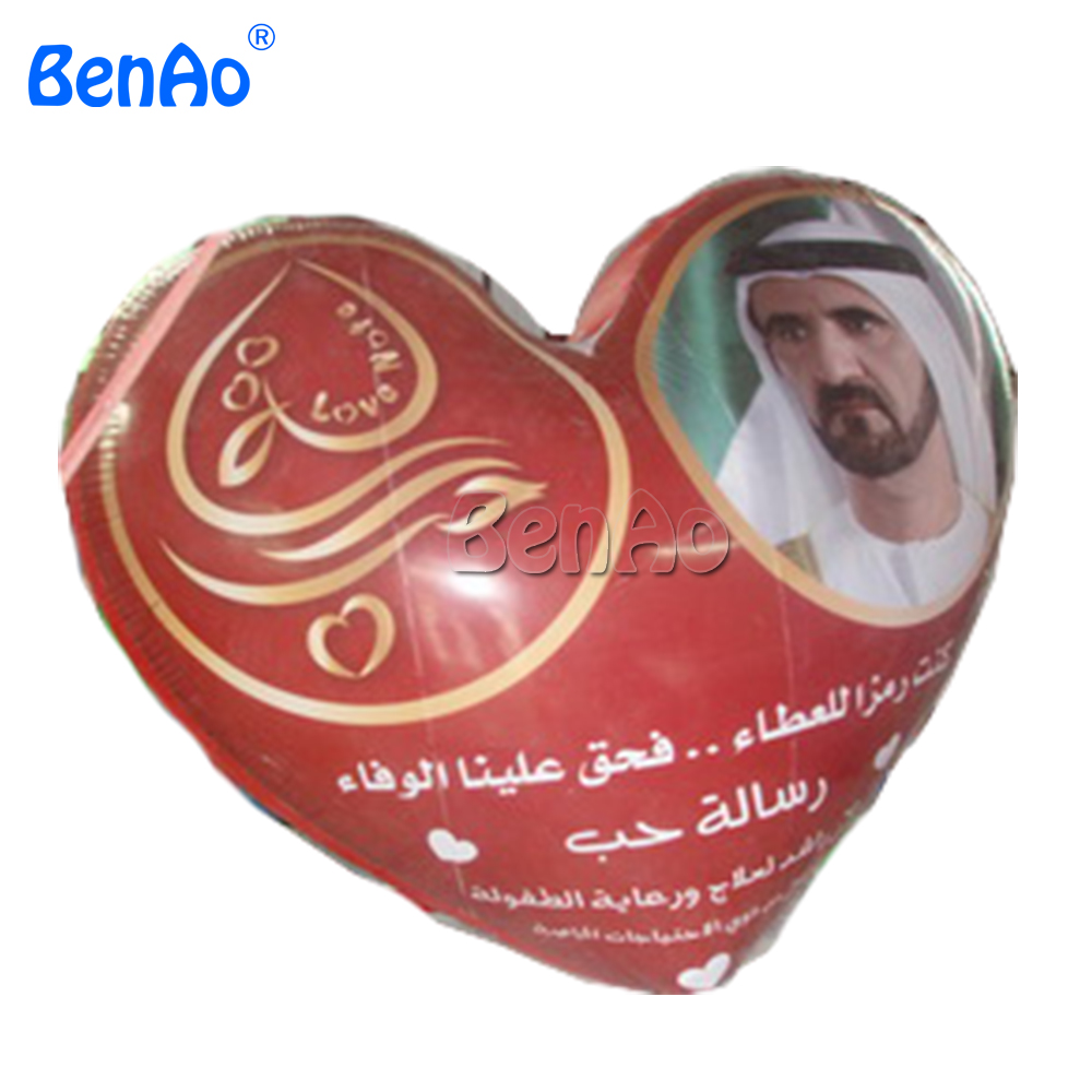 AO063 BENAO Free shipping Customized Inflatable Advertising Helium Balloon With Heart Shape / Large Inflatable Heart For Sale