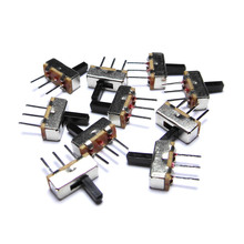 (100pcs/Lot) Toggle Switch 3 Feet SS12D00G5 1P2T Handle High 5mm Foot Distance about 2.5mm Micro Switches