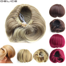 Delice Synthetic Straight Braided Chignon Clip In Women's Dr