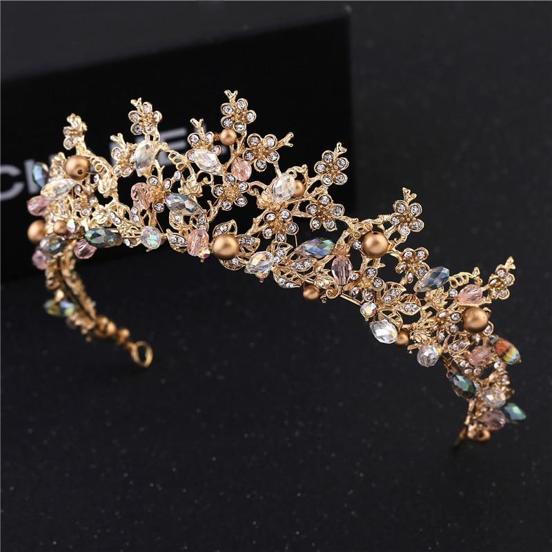Fashion Magnificent Diadem Clear Crystal Bridal Tiaras Flower Wedding - მოდის სამკაულები - ფოტო 3