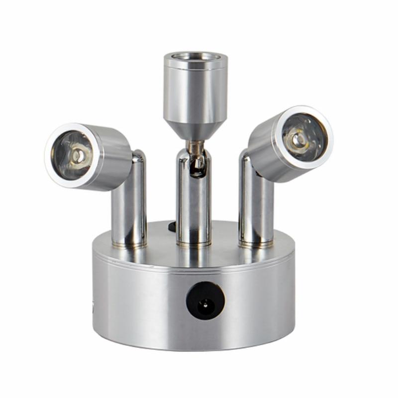recarregavel holofotes luz conduzida da joia contador vitrine sem fio wf618149 3 w barra de suporte