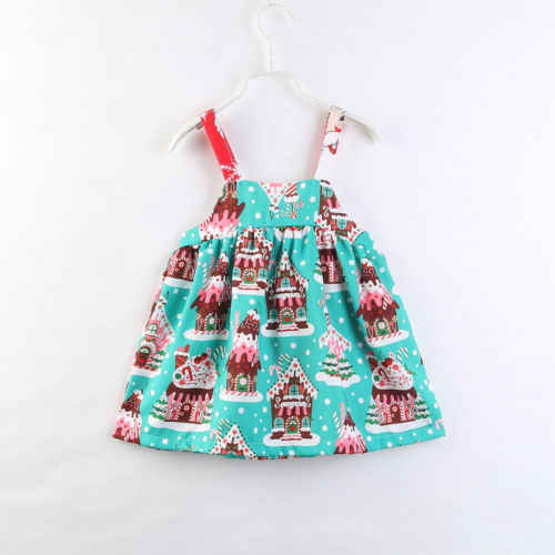 3a0883fb1e653 2018 New Xmas Style Kid Girl Dress Baby Girl Christmas Bowknot Sleeveless  Princess Party Toddler Outfit Children Sundress 2-7Y