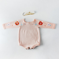 New 2019 Fashion Baby Rompers Baby Girl Clothes Sleeveless Newborn Knitted Romper Baby Girl Clothing Jumpsuit Infant Clothing