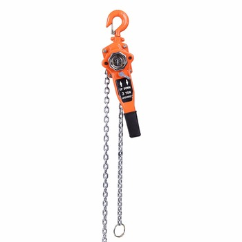 Color naranja, 3 t/3000 kg, cadena Manual, elevador de bloques, polipasto de trinquete, palanca de trinquete, polea de elevación, 3 metros