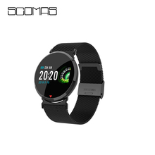 SCOMAS Fashion Men Smart Watch E28 OLED Color Screen Fitnes Tracker Heart Rate Blood Pressure Monitor Smartwatch For iOS Android