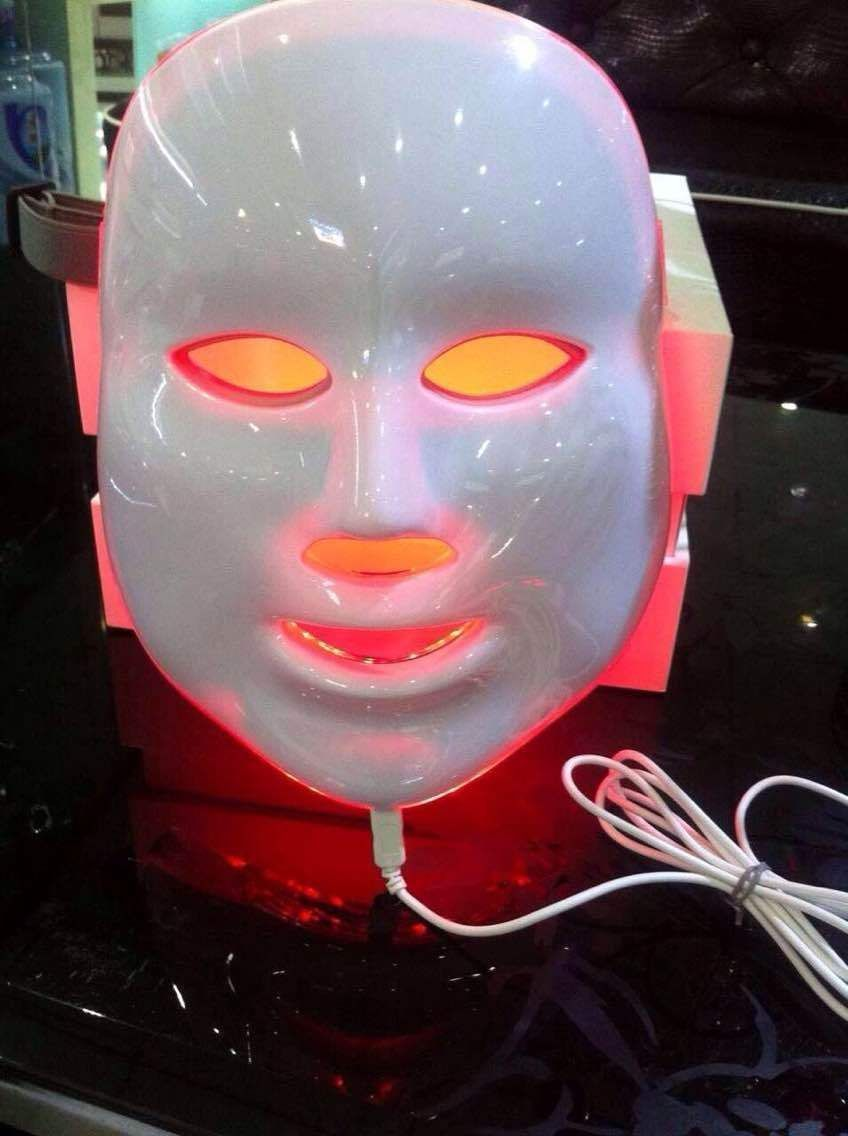 Free shipping home use led facial mask for skin rejuvenation beauty equipment Photon LED Facial Mask Anti-aging With 3 LED Color