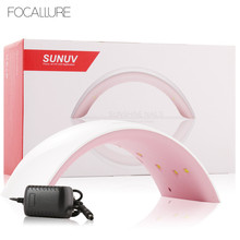 hot deal buy focallure sun9c 24w nail lamp nail dryer for gel nail machine curing gel polish best for personal home manicure curing nail tool