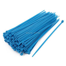 4mm x 150mm Self Locking Nylon Cable Ties Heavy Industrial Wire Zip Ties Blue 100pcs 100pcs white self locking cable tie high quality nylon fasten zip wire wrap strap 2 5x100mm 2 5x150mm plastic