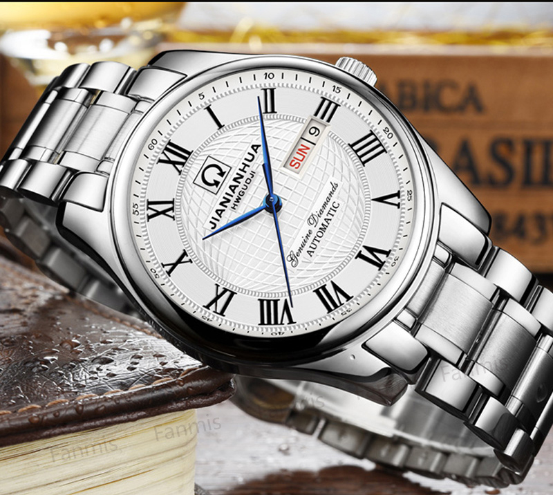 Luxury Carnival Automatic Mechanical Watch Men Date Day relogio masculino Sapphire stainless steel Mens Wristwatch цена и фото