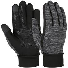 Vbiger Black Men Women Cold Winter Warm Gloves Anti-slip Touch Screen Gloves Flexible Outdoor Sports Gloves