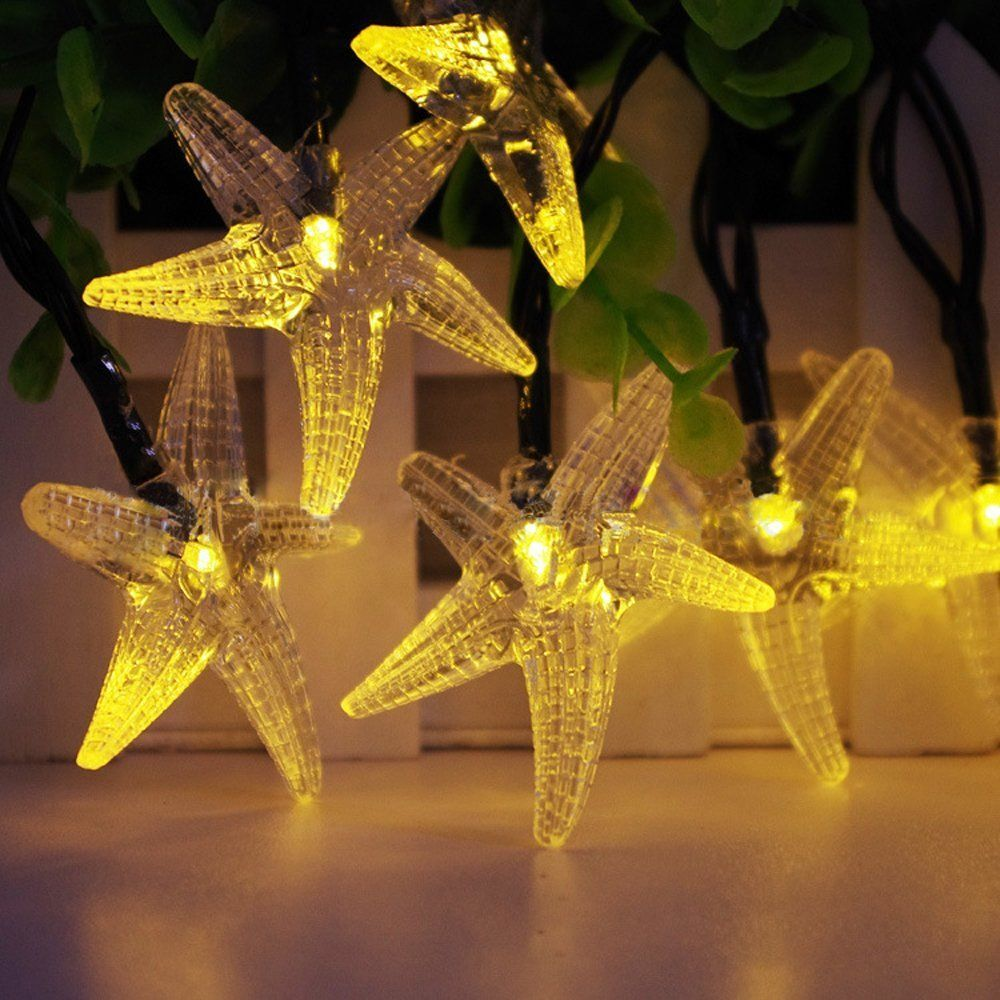 High Quality Christmas Solar Lights 30 LED 4 Modes Starfish Solar Fairy String Lights for Tree Outdoor Gardens Fast Delivery