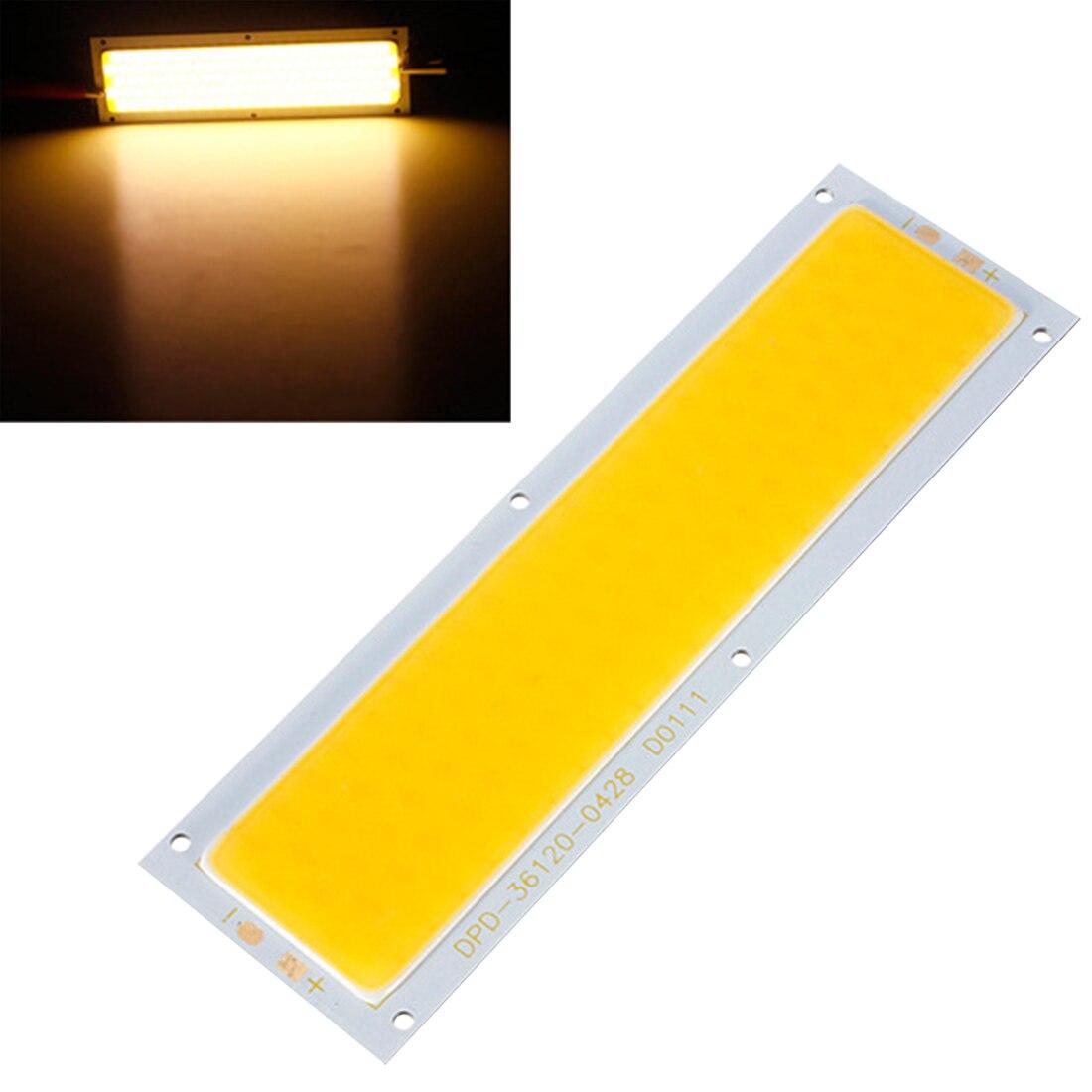 10 Вт лампы УДАРА СВЕТОДИОДНЫЙ Панель полосы света чип автомобилей источник света теплый белый чистый белый для DIY Spotlight пол освещение DC12-24V