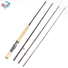 Cheap Fly Fishing Rod 2.7m 9ft High Carbon Fishing Rod Fly 5/6 Saltwater Travel Fly Fishing Rod Tube Case And Bag China Tackle