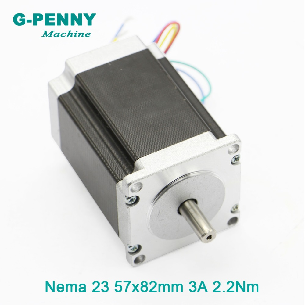 NEMA23 CNC Stepper Motor 57x82mm 2.2N.m nema23 step motor 3A 315Oz-in Stepper Motor for CNC Router Engraving machine 3D printer 0 9 step degree nema14 round stepper motor with 8 8n cm 12oz in length 20mm ce cnc step motor