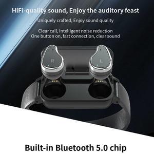 Image 3 - T89 smart band met dual oortelefoon sport fitness armband Bluetooth oortelefoon hartslag bloed pressur waterdicht Smart horloge