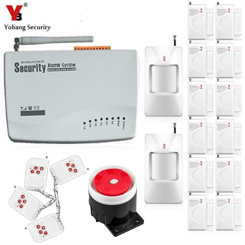 Yobang Security Smart Home Alarm Wireless Alarm Wireless GSM Alarm System For Home Security System Tri-band 900/1800/1900MHz yobang security tri band gsm alarm system anti theft electronic alarm for home protection sms alarm 10 second automatic message
