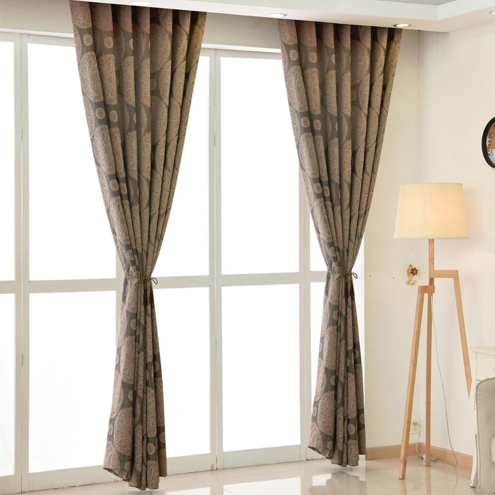 Room Living Brown Modern Curtain Kitchen Drapes Curtains Short Curtains  Blinds Window European Luxury Curtain
