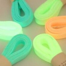 1 пара 100 см спорт светящиеся шнурки светятся в темноте цвет люминесцентные шнурки Спортивное Спорт шнурки светоотражающие шнурки