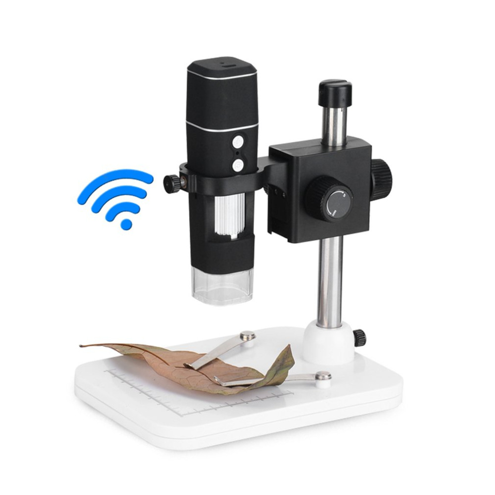 500x Wi-Fi Digital Microscope US Plug Magnification With Adjustable Stand 8 LED Light Manual Focus Adjustment Drop ship 2018 New wi fi digital microscope with adjustable microscope stand 8 led light manual focus adjustment 500x magnification no battery