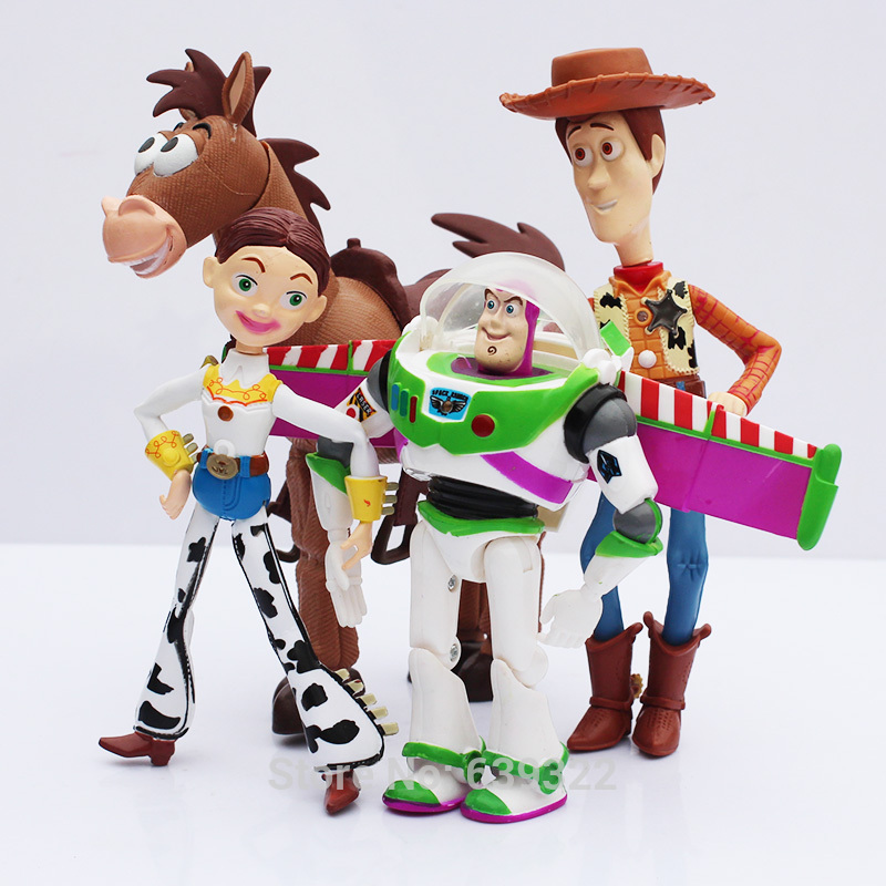 4 set lote Toy Story 3 Buzz Lightyear Woody Jessie PVC figuras de ... 200cf4a863b