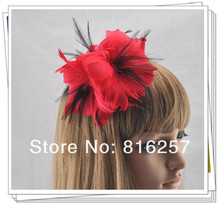 Free shipping 9 colors high quality feather flowers nice fascinator hair accessories party hats wedding hats
