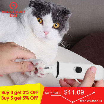 애완 동물 강아지 고양이 손톱 손질 그라인더 트리머 클리퍼 usb 충전 전기 painless 쉬운 운반 네일 파일 키트 트리머 도구