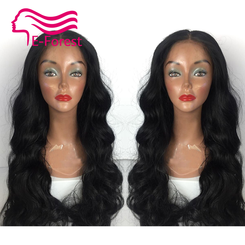 Malaysia Unprocessed virgin full lace front lace human hair wigs glueless body wave with Natural baby