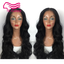 Malaysia Unprocessed virgin full lace front lace human hair wigs glueless body wave with Natural baby hair free shipping