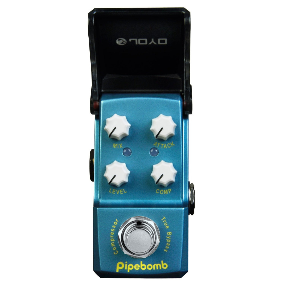 JOYO JF-312 Pipebomb Compressor Mini Electric Guitar Effect Pedal with Knob Guard True Bypass joyo jf 317 space verb digital reverb mini electric guitar effect pedal with knob guard true bypass