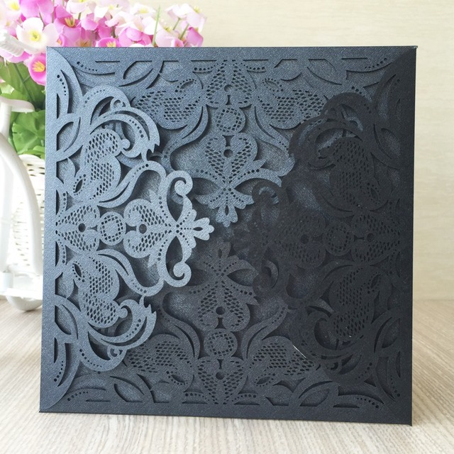 12pcsfree shipping four folds happy new year laser cut wedding invitation cards for birthday