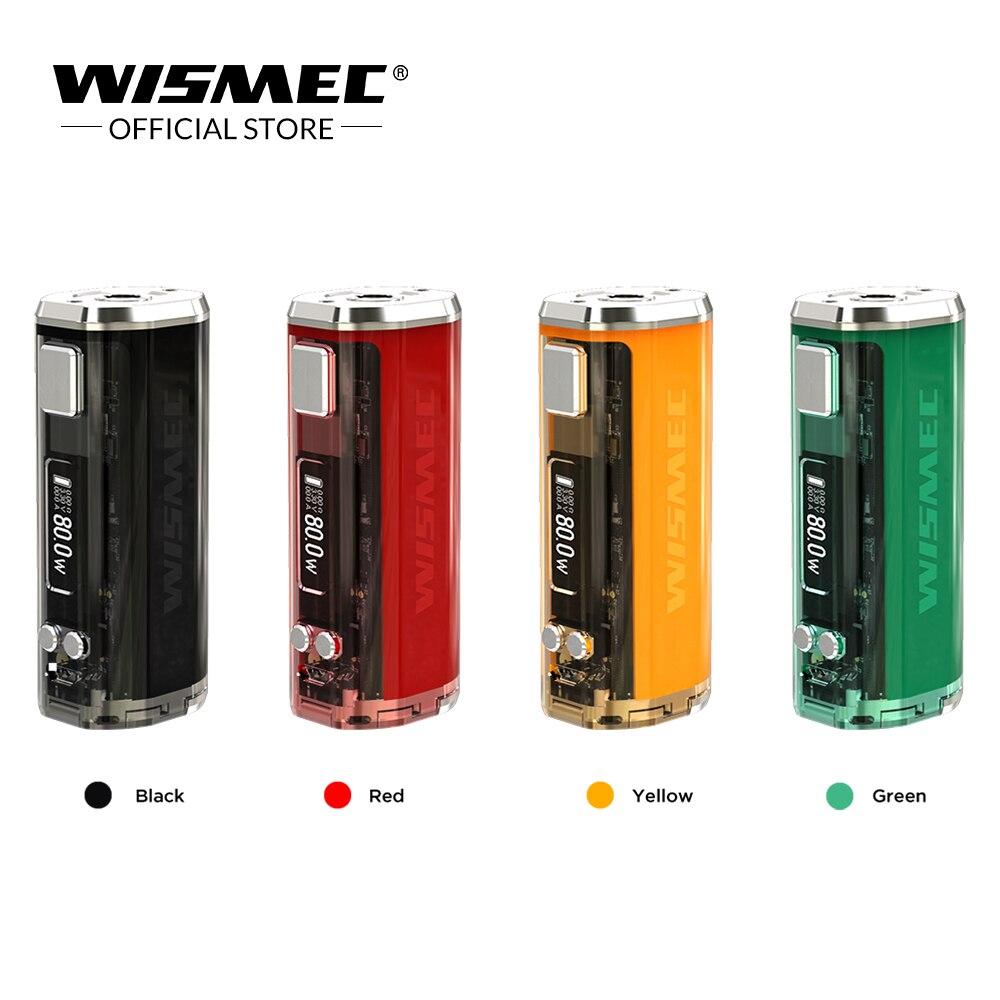 Originale WISMEC SINUOSA V80 TC Box Mod 80 W Potenza VW/Bypass/TC/TCR Modalità VS Sinuosa p80 Mod Sigaretta Elettronica mod