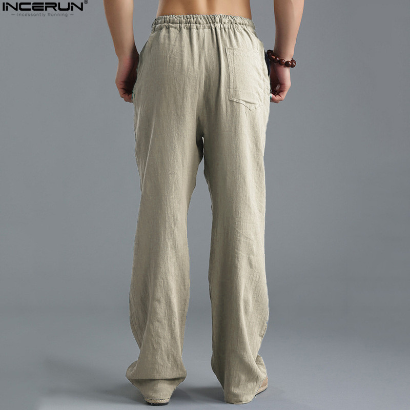 HTB1u9D6kyOYBuNjSsD4q6zSkFXaJ Spring Summer Men Pants Casual Mens Business Trousers Thin Linen Loose Elastic Waist Chinese Style Pants Straight Trousers Men