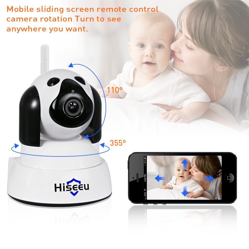 Image 2 - hiseeu Home Security IP Camera Wi Fi Wireless Smart Pet Dog wifi Camera video Surveillance 720P Night CCTV Indoor Baby Monitor-in Surveillance Cameras from Security & Protection