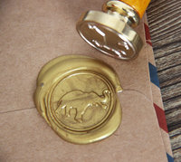 Elephant Wax Seal Stamp Gold Plated Elephant Logo