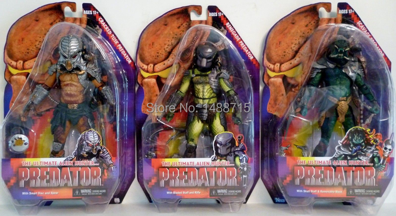 ФОТО  Sci Fi Horror Movie NECA Predator Series 13 Scavage Renegade Cracked Tusk 7 Action Figure Toys