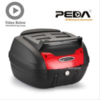 PEDA 2019 Motorcycle Top case PP scooter trunk Tail Box 48x42.5x30.5cm Scooter Cargo Case Carrier Box Topcases Carrier Box