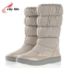 For -40 Degree Women Boots Winter Boots New 2017 Brand Waterproof Shoes Woman Snow Boots Fur Plush Inside Big Plus Size 35-41