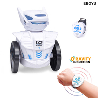 EBOYU BG1526 STEM Learning Toys RC Robot Toy DIY Mechanical Robot Educational Toy Robot Remote Control by Watch Toys Best Gift