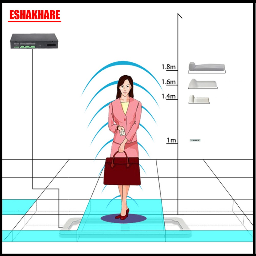 58Khz invisible eas security system retail store anti theft system with sound and light alarm shoplifting deterrent все цены