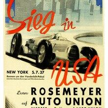 Cartel publicitario Vintage osemeyer para Auto Union, pinturas clásicas en lienzo, pósteres de pared Vintage, pegatinas para decoración del hogar, regalo